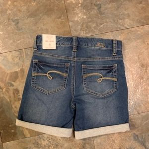 NWT Justice size 12 Slim mid thigh Jean shorts
